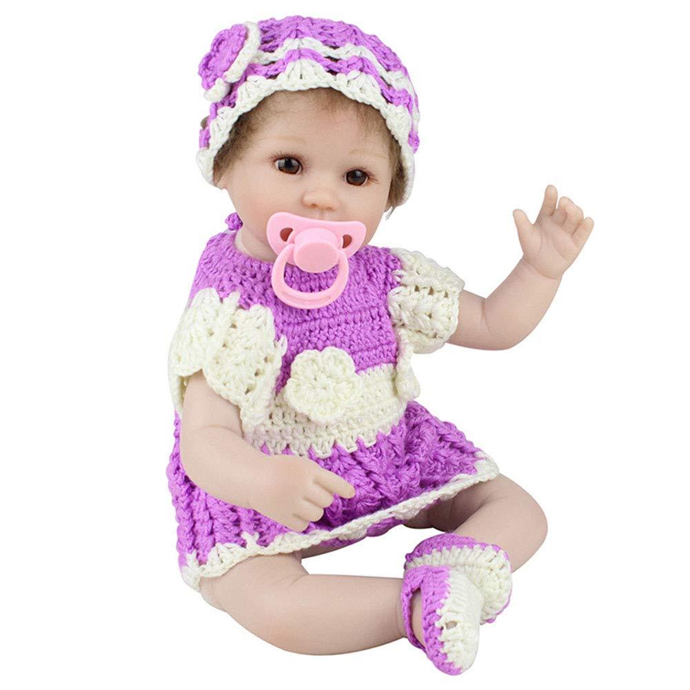 QJIAXING Reborn Baby Simulación Cuerpo Niña Realista Niño Compañerismo, Color1,45Cm