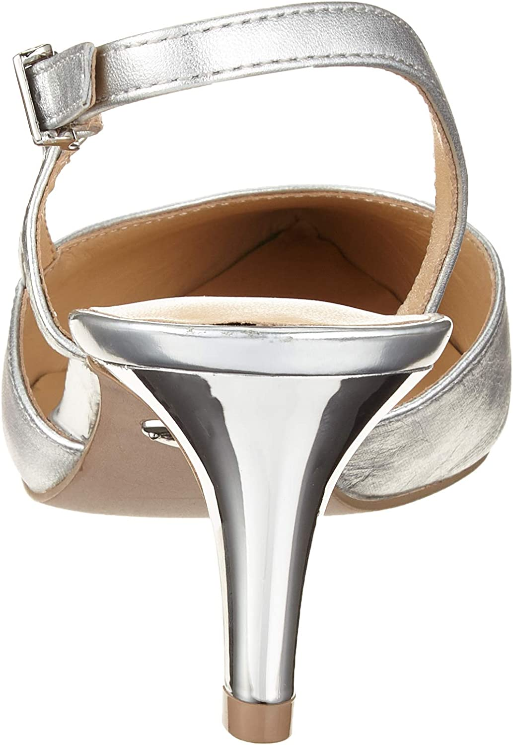 CAPRICE Gillian Slingback Pumps voor dames Multicolour Silver Satin 966