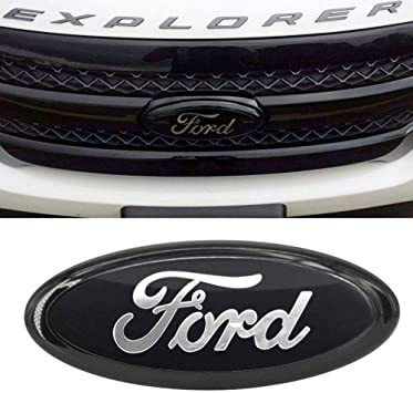 New 9 INCH 2004-2014 FORD F-150 BLACK OVAL FRONT GRILLE OR REAR TAILGATE EMBLEM