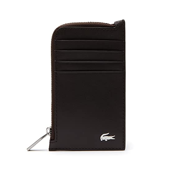 241481fb62ba Lacoste Mens 2018 Fitzgerald Leather Zip card Holder - Brown  Amazon.co.uk   Clothing