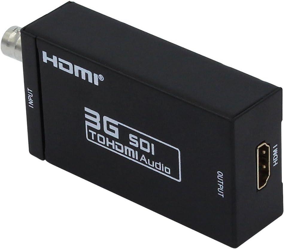 Black, OneSize 3G-SDI Signals Showing on HDMI Display Mini HD 3G SDI to HDMI Converter Adapter Support HD-SDI