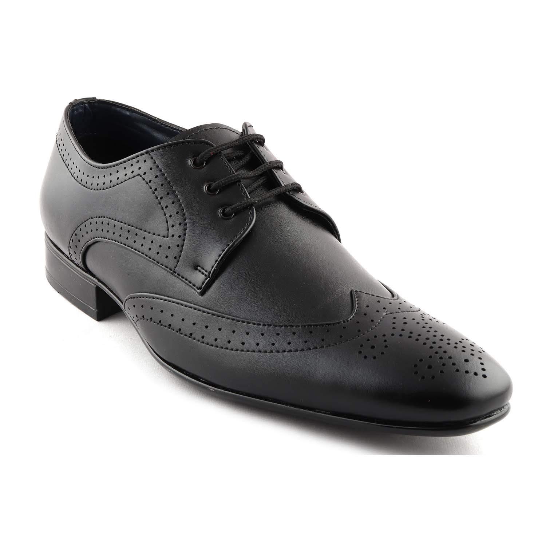 San Frissco Mens Black Formal Shoes