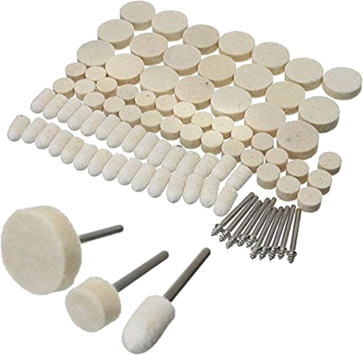 20Pcs Felt Polishing Buffing Pads Wheel Wool Plastic Dremel Rotary Tool Set US