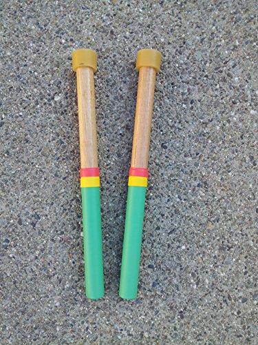 Tenor Drum Mallet - KaKesa Steel Drum Pan Mallets Sticks Wood Rasta - Lead Tenor