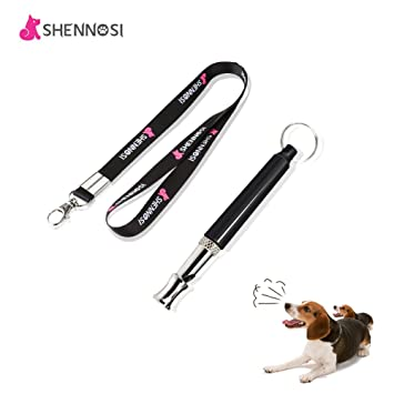 SHENNOSI® Dog Whistle to Stop Barking - Bark Control for Dogs - Patrol  Ultrasonic Sound Repellent Repeller - Black and Silver Training Deterrent
