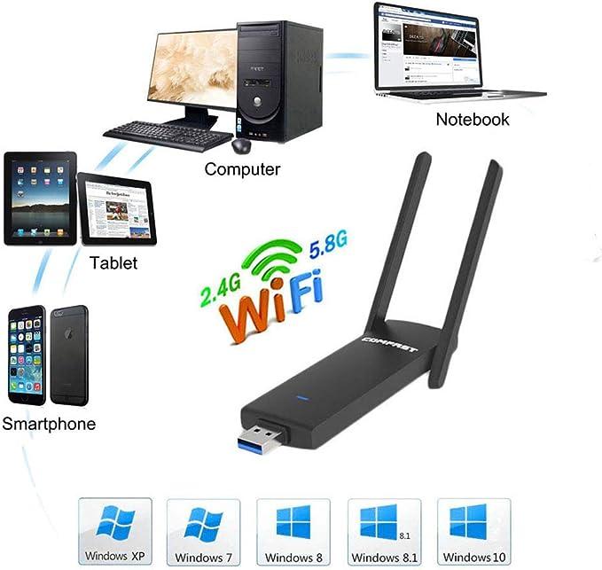 COMFAST Adaptador WiFi USB CF-926AC 1200Mbps Adaptador ...