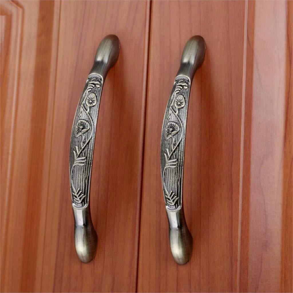 2 tiradores de puerta estilo retro Creatwls decoraci/ón para tocador de aleaci/ón de cinc