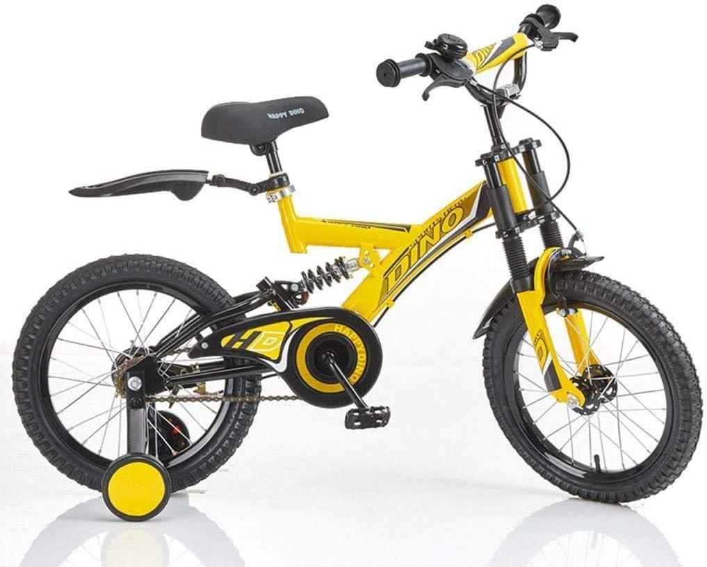 Bmx bicicletas niños infantil) Absorción de los niños unisex está con ruedas de entrenamiento bicicleta de los niños 3-8 años bici del bebé doble choque del carro 14/16 pulgadas alumnos Montaña (color