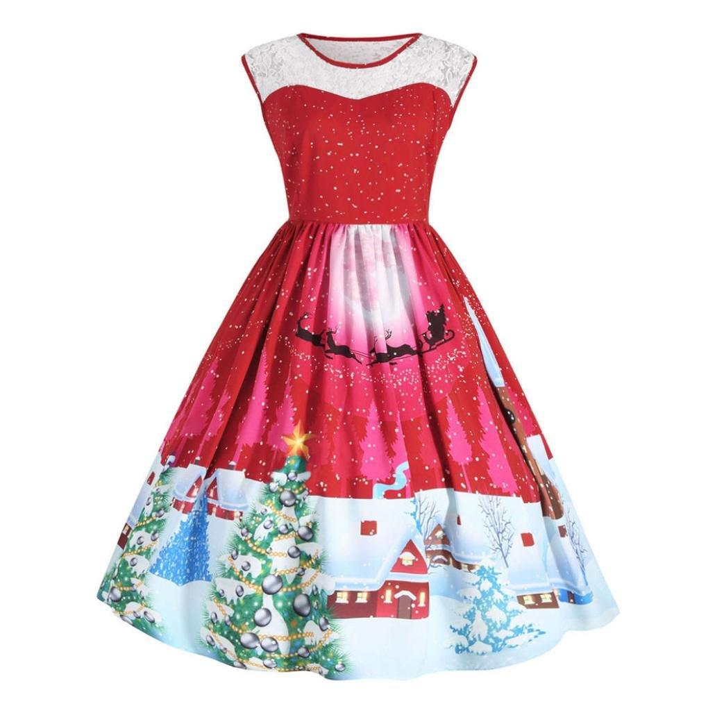 Kleider, Frashing Weihnachtskleid Damen Weihnachtspullover ...