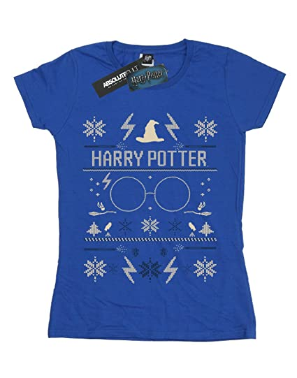 Harry Potter Mujer Christmas Pattern Camiseta: Amazon.es ...
