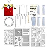 127 piezas/juego de joyería de moldes de resina, kit de moldes de silicona de fundición de resina que hace herramientas de artesanía para moldes de bricolaje (que incluyen: AROYEL regalos)