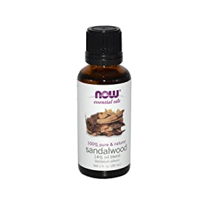 NOW Essential Oils, Sandalwood Oil, 14% Blend of Pure Sandalwood Oil in Pure Jojoba Oil, Grounding Essential Aromatherapy, 1-Ounce