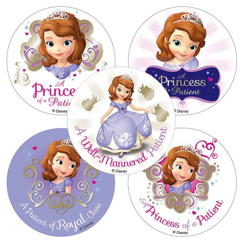 SmileMakers Disney Sofia The First Patient Stickers - 100 Per Pack ()