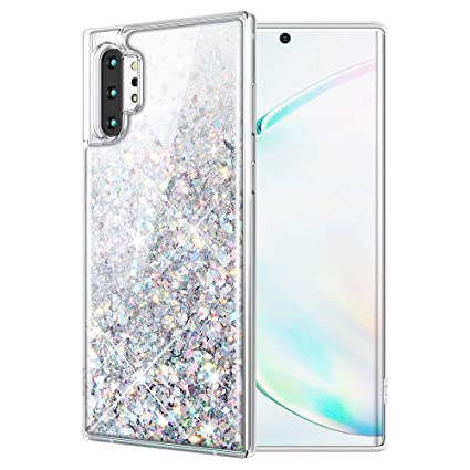 Caka Glitter Case for Galaxy Note 10 Plus (Not Note 10) Glitter Case Liquid Bling Luxury Flowing Sparkle Shining TPU Women Girls Phone Case for ...