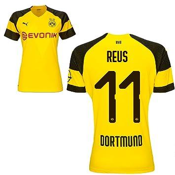 Puma Borussia Dortmund Fútbol Mujer Home Camiseta 2018 2019 Mujeres Camiseta con Jugador Nombre, Reus, Small: Amazon.es: Deportes y aire libre