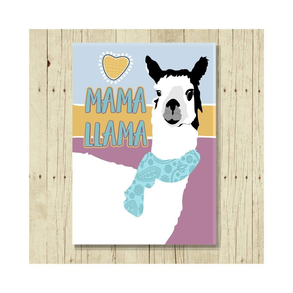 Mama Llama Fridge Magnet Gift for Mom 2.5x3.5
