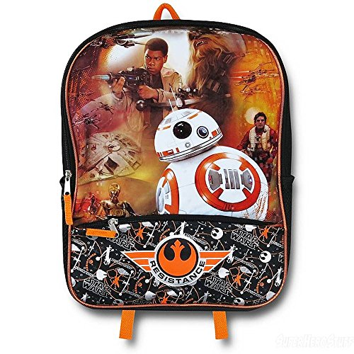 Star Wars 16  Backpack Resistance The Force Awakens Episode 7 Bb8 Chewbacca