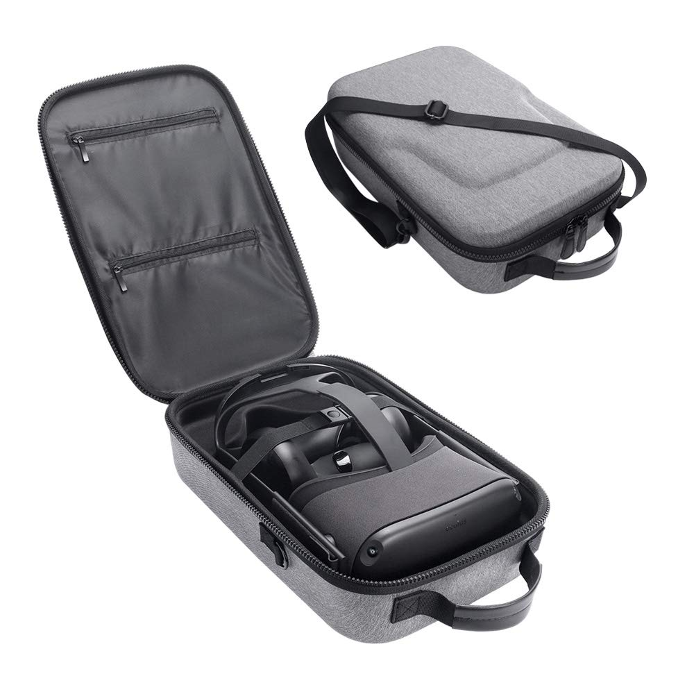 Simumu Travel Case for Oculus Quest VR All-in-one Gaming Headset and Controllers Accessories Carrying Bag(Gray) by Simumu