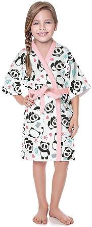 Roupão Infantil Panda Felpudo Quimono Rosa - Lepper