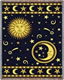 """Pure Country Weavers """"Moon and Stars Blanket"""" Tapestry Throw"""