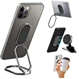 CloudValley Foldable Phone Ring Holder Finger Kickstand, 360° Rotation Ultra-Thin Cell Phone Back Adjustable Grip, Metal Tabl