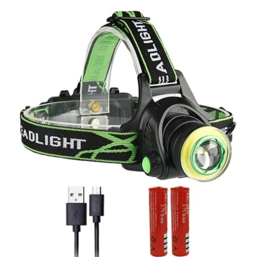 Linterna Frontal LED Cargador USB Lámpara De Cabeza Antorcha ...