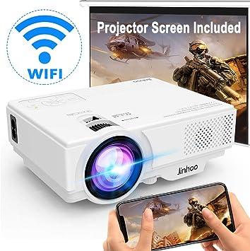 Proyector WiFi] Proyector inalámbrico soporta 1080P Full HD [con ...