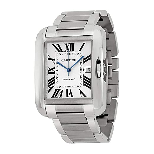 Cartier Tanque Anglaise Plata Dial Acero Inoxidable Acero Mens Reloj W5310008: Amazon.es: Relojes
