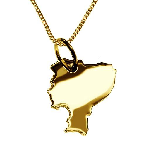 ECUADOR Partidario en masivamente 333 oro amarillo con la cadena