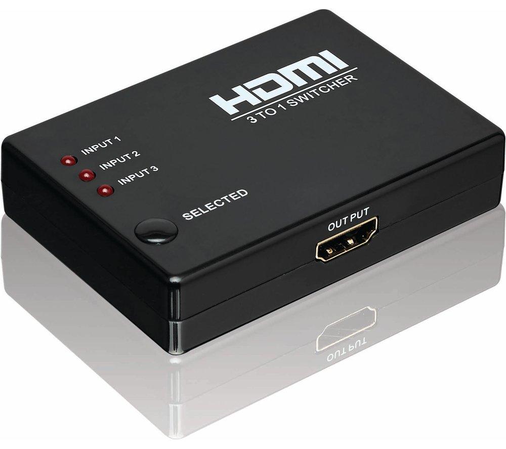 Logik HDMI 3-Way Switcher: Amazon.co.uk: Electronics