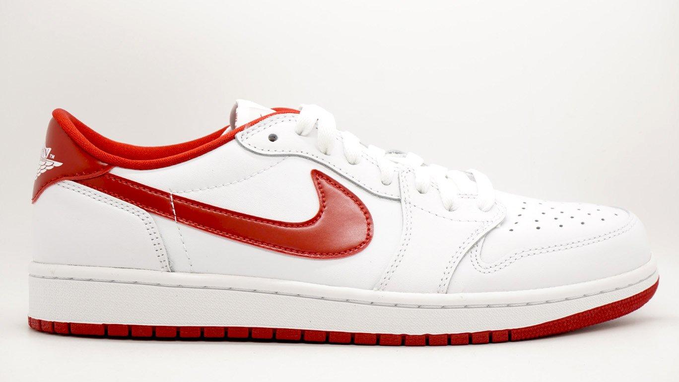 Men's 5 Basketball Low Og Whitevarsity 1 Nike Retro Jordan Redwhite Shoe9 Air PZXiOku