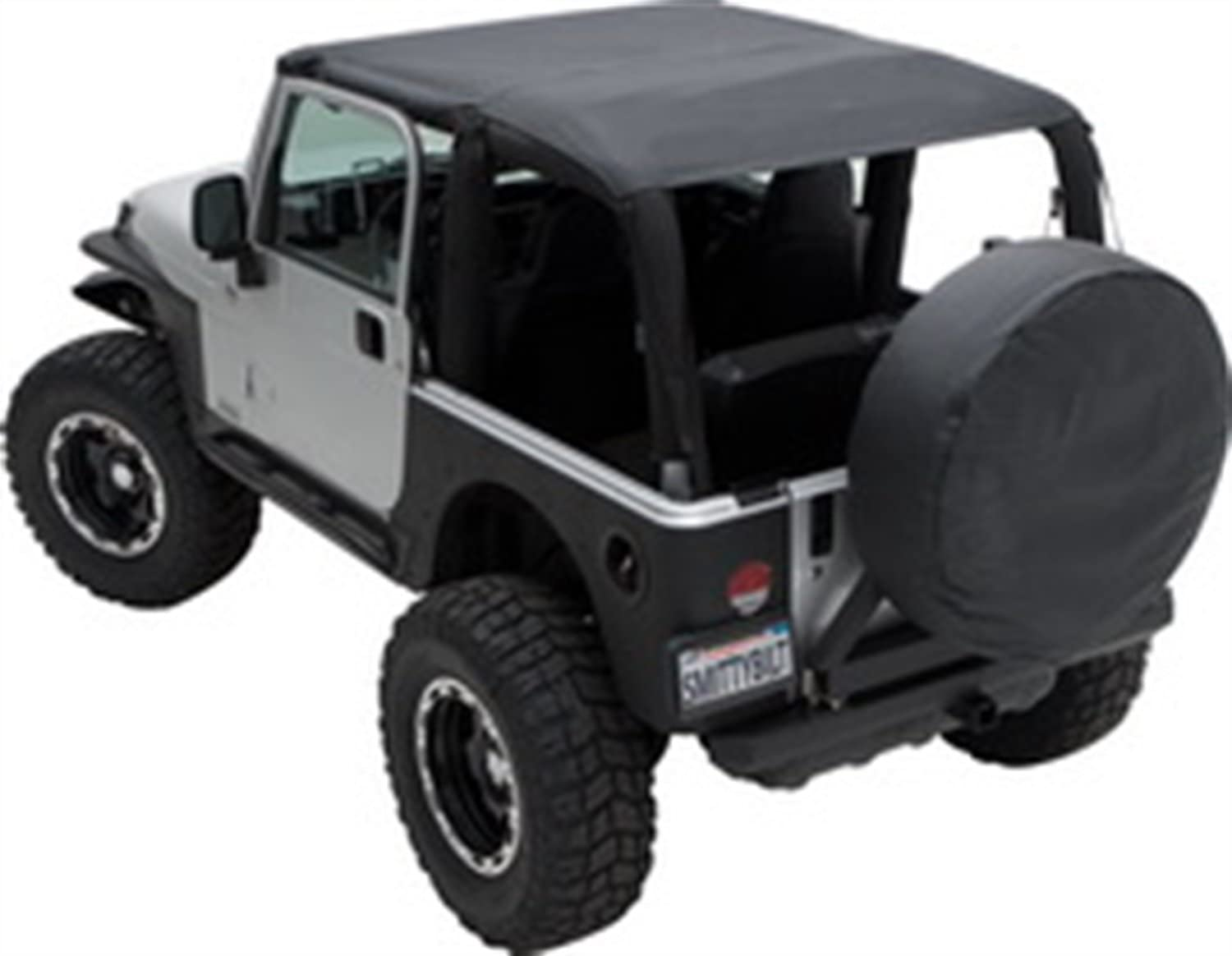Black Denim 1992-95 Jeep Wrangler YJ Extended Top with Windshield Channels