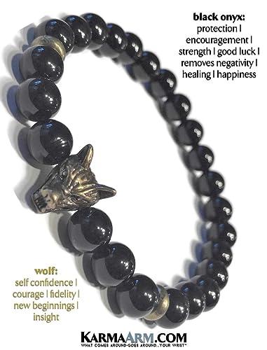 Amazon.com: KarmaArm pulseras elásticas con cuentas de yoga ...