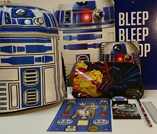 r2d2バックパックwith School Supplies and Star Warsアクティビティセット   B01K97N6YU