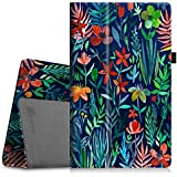 "Fintie Folio Case for All-New Amazon Fire HD 10 Tablet (7th Generation, 2017 Release) - Premium PU Leather Slim Fit Smart Stand Cover with Auto Wake/Sleep for Fire HD 10.1"" Tablet, Jungle Night"
