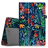Fintie Folio Case for All-New Amazon Fire HD 10 Tablet (7th Generation, 2017 Release) - Premium PU Leather Slim Fit Smart Stand Cover with Auto Wake/Sleep for Fire HD 10.1'' Tablet, Jungle Night