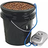HTGSupply 5-Gallon Bubble Boy Single Shot XL Deep Water Culture (DWC) Hydroponic Bucket System