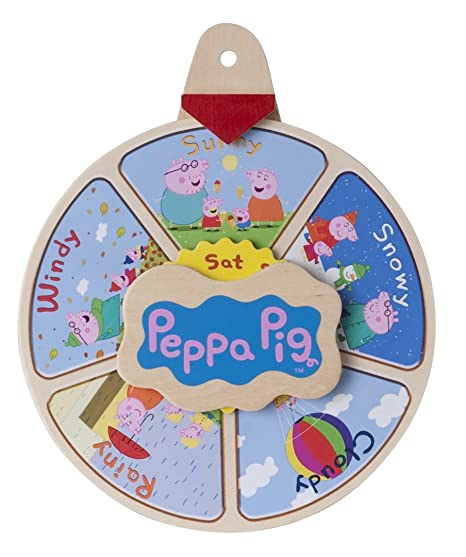 Gtpeppa Pigs Holz Wetteruhr Amazon De Spielzeug
