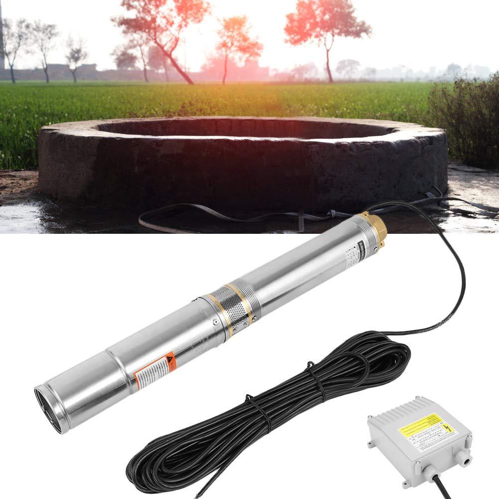 h de puits de 370W Ausla Pompe immerg/ée inox,pompe de leau de puits profonds de la pompe immerg/ée de la pompe 230V 4000L