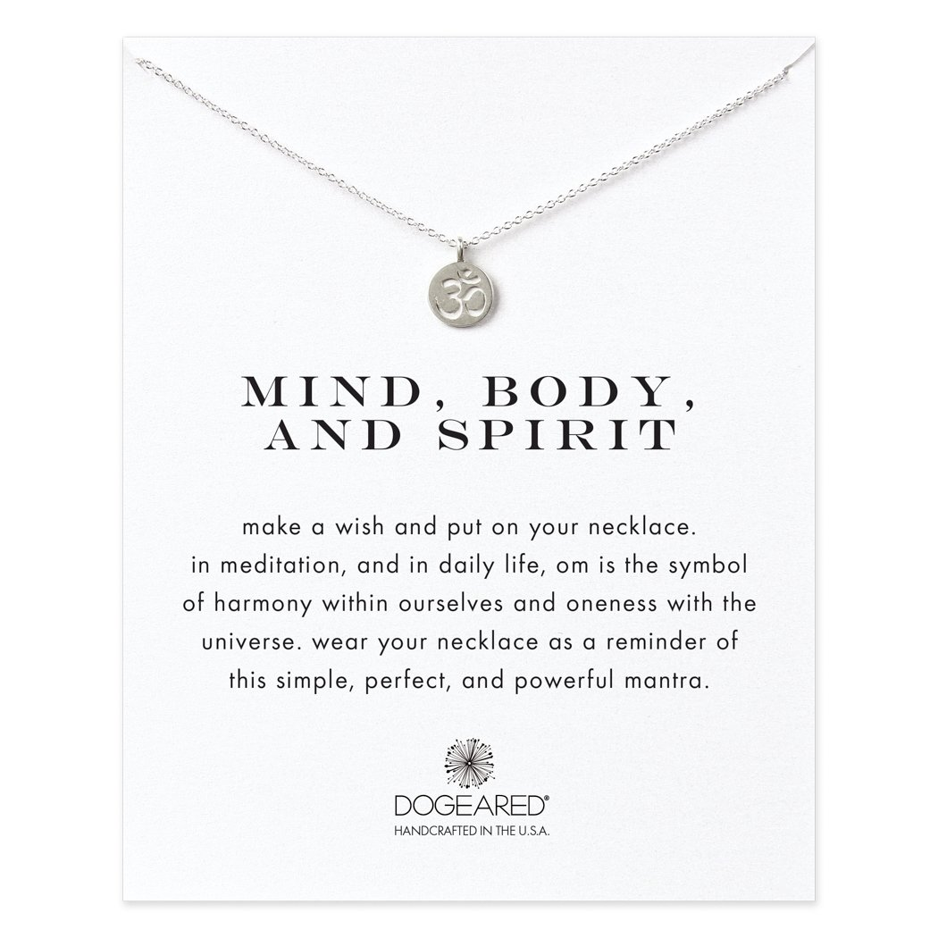 Dogeared Womens 925 Sterling Silver Mind Body Spirit Om Necklace
