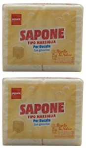 "Penny:""Sapone"" Marseille Laundry Soap with Glycerin 8.8 Ounce (250gr) Soaps (Pack of 4) [ Italian Import ]"