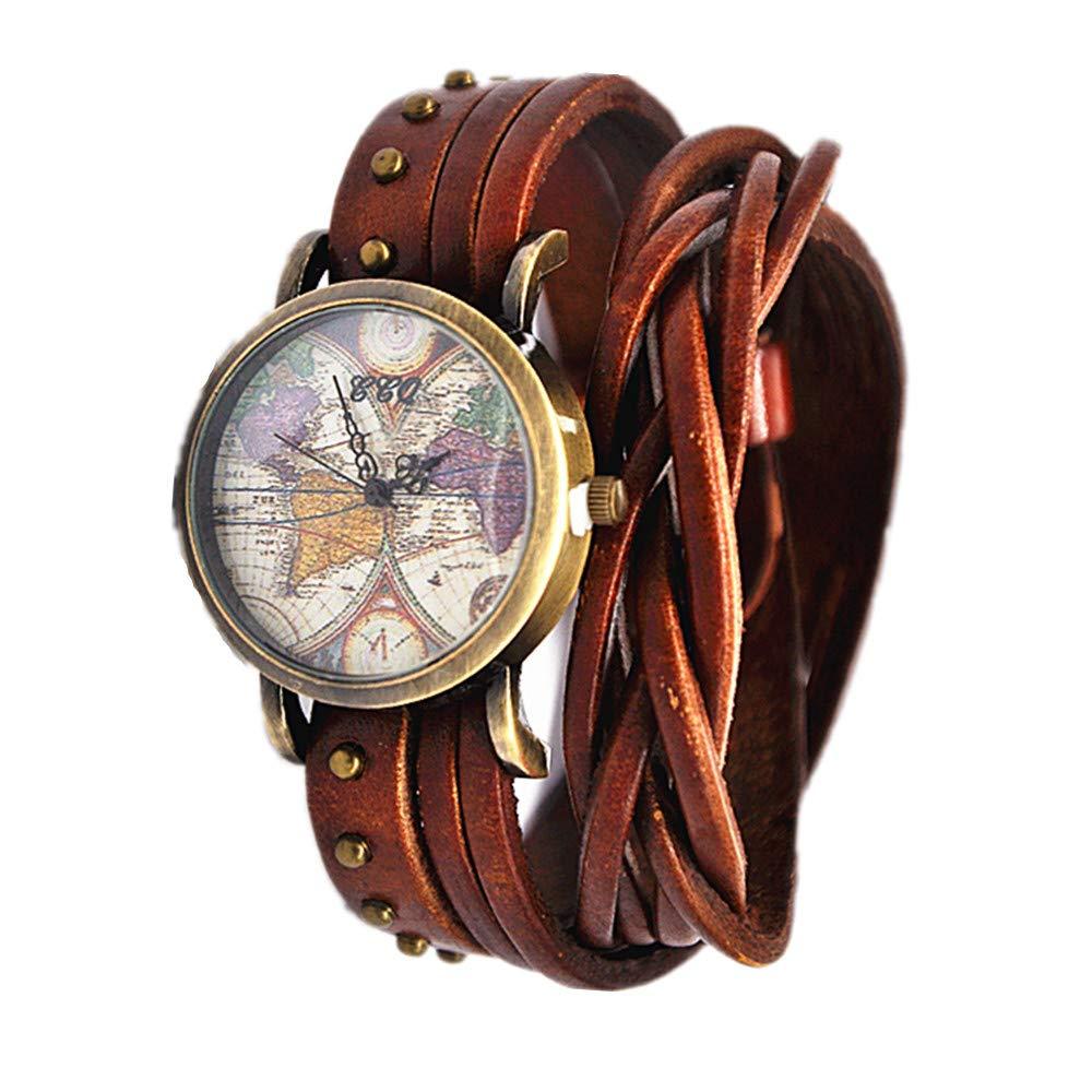 Amazon.com: MINILUJIA Bohemian Style Analog Quartz Watch Double Wrap ...