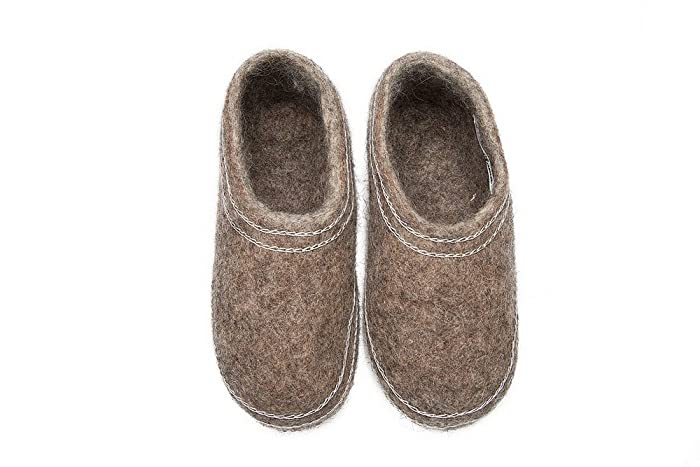 78b0dba00926d Felt felted wool slippers / clogs / Scandinavian house shoes ...