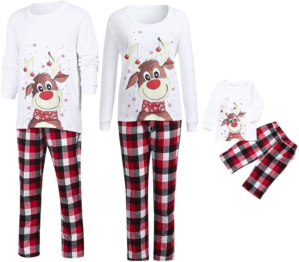 Kehen Family Christmas Matching Set Holiday Pj Pajamas Xmas Soft Sleepwear Nightwear Parent Child Outfit Equipment