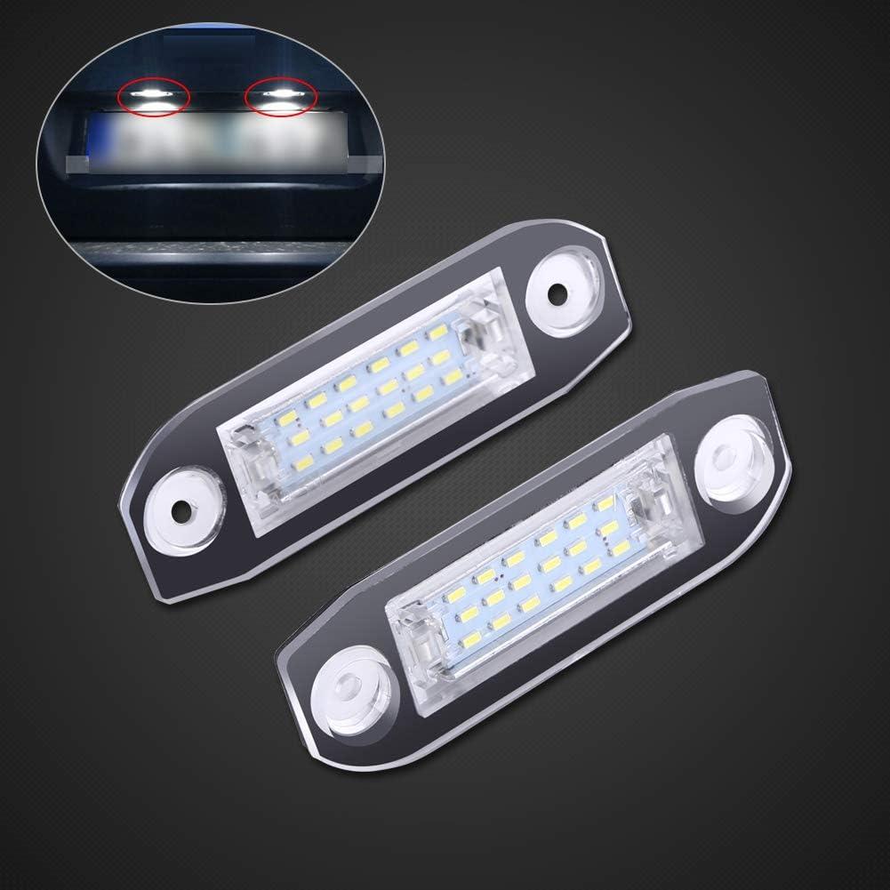 lumi/ère de Plaque dimmatriculation LED pour S40 S60 S80 XC60 XC70 XC90 Yctze 2pcs Feux de Plaque dimmatriculation de Voiture LED
