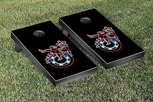 Poker Neon Cornhole Game Set by Victory Tailgate