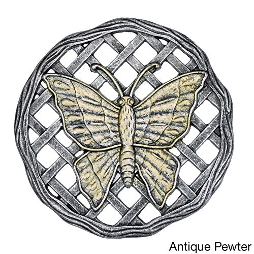 Oakland Living Corporation Cast Aluminum Butterfly Stepping Stone (Pack of 6) Pewter