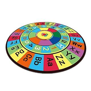blendivt Tappeto da Gioco per Bambini Bambino Ottimo per Gattonare Antiscivolo educativo Tappeti per Bambini Fantasia Alfabeto con Disegni