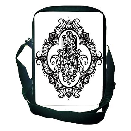 ornate frame tattoo mens selfdefined one shoulder small satchel hamsacurvy ornate frame with antique religious motif amazoncom hamsa curvy