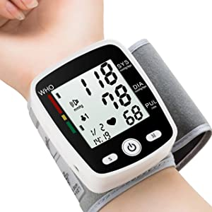 Blood Pressure Monitor, FDA Approved BP Monitor Irregular Heart Beat Detection Cuff Automatic with Large Display Screen Support Charging Supply for Home Use